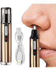 Neushaartrimmer, elektrische USB-oplaadbare neus- en oortrimmer, pijnloos, wasbare roestvrijstalen messen, 360 graden rotatie, perfecte neustrimmer voor dames en heren