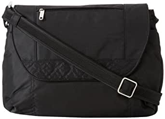 Travelon Anti-Theft Cross-Body With Stitching, Black, One Size