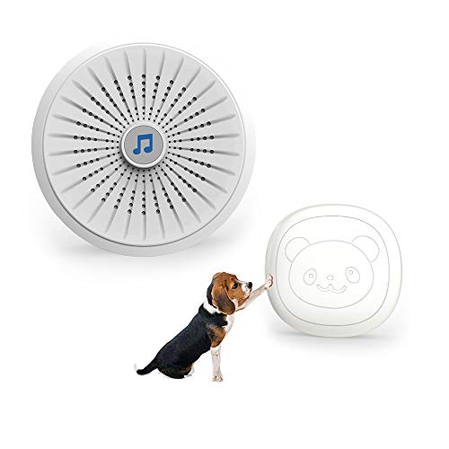 (NiCalBell Wireless Doorbell for Dogs Doggie Door Bell for Potty Training with Touch Button )