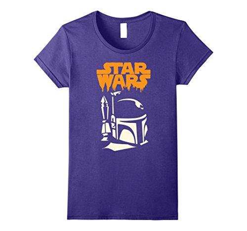 Womens Star Wars Boba Fett Dripping Ooze Logo Halloween T-Shirt Large (Boba Fett Female)