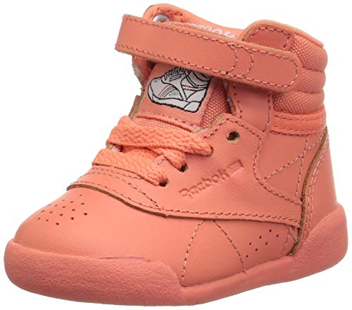 Reebok Girls' Freestyle Hi, Stellar Pink/White/Peach Twist, 3 M US Little - Kids Twist