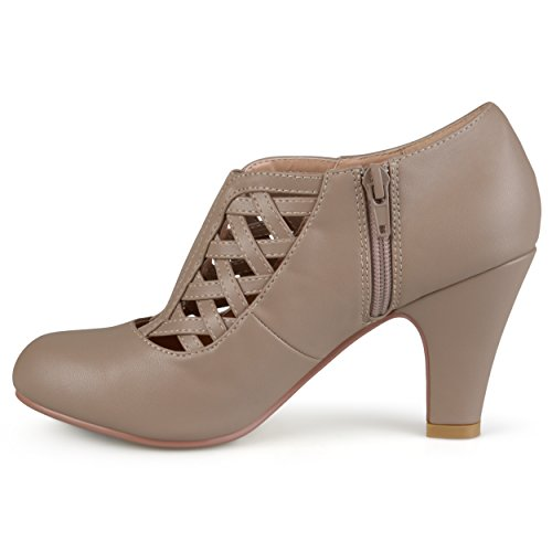 Toe Booties Womens Round Journee Matte Taupe Collection g7RFxF