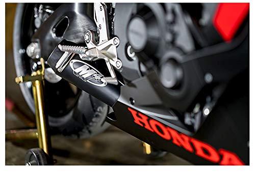 (M4 Performance Exhaust GP Slip-On System Black Ceramic Muffler compatible with 2017-19 Honda CBR1000RR HO8922-GP)