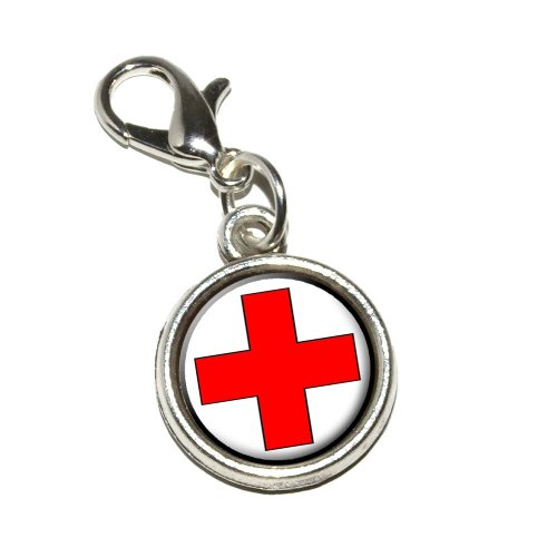 graphics-and-more-red-cross-antiqued-bracelet-pendant-zipper-pull-charm-with-lobster-clasp