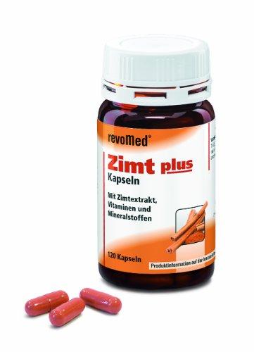 Revomed - Zimt PLUS (120 Kapseln) Mit Zimtextrakt, Vitaminen, Chrom und Zink
