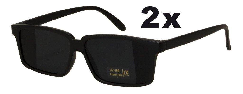 2x Ultracoole Agentenbrille mit Rückspiegel Detektivbrille Sonnenbrille mit UV-Schutz Doppelpack Trendyshop365
