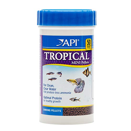 Fish Mini Pellets - API TROPICAL MINI PELLETS Mini Sinking Pellets Fish Food 1.7-Ounce Container