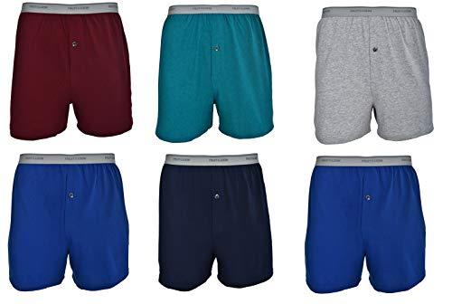 (Fruit of the Loom Men's 6-Pack Knit Boxer Shorts Boxers Cotton Underwear XL)