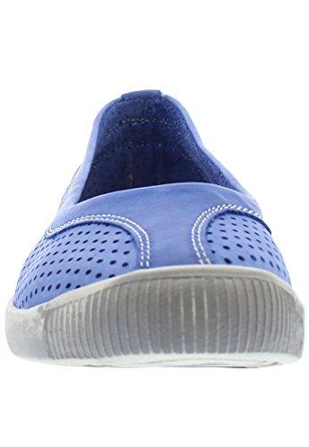 Softinos Damen Iol389sof Pumps Trainers Blau