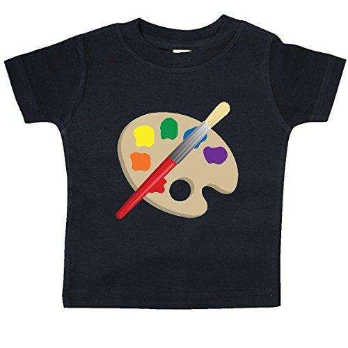inktastic Artist Palette and Brush Baby T-Shirt 12 Months Black