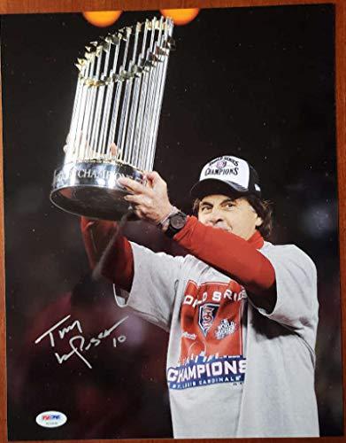 TONY LARUSSA PSA DNA COA Autograph World Series 11x14 Photo Hand Signed Authentic