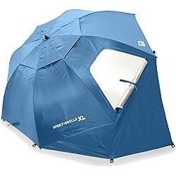 Sport-Brella XL Portable All-Weather and Sun Umbrella. 9-Foot Canopy. Blue.