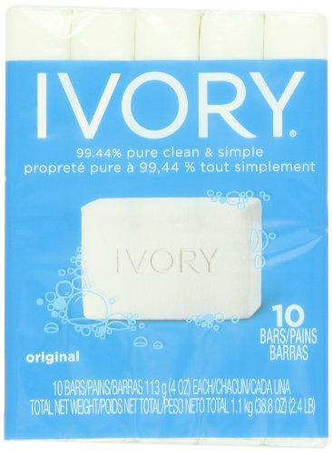 Ivory Original 10-Count: Bath Size Bars (4 Oz), 38.8 Ounce (Is A Mild Soap Ivory)