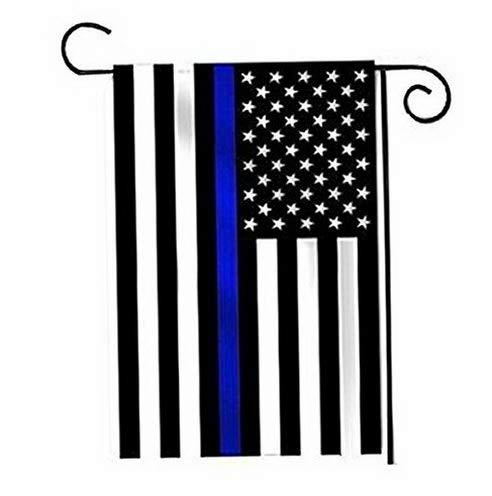 Kaputar (4 Pack 12x18 USA Thin Blue Line Police Flag 12x18 Sleeved Sleeve Garden Pole | Model FLG - 7151