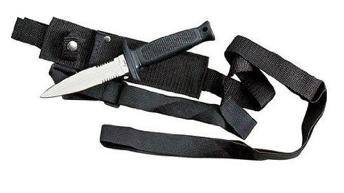 Tactical Dagger w/Shoulder Harness, Black ABS Handle, Outdoor Stuffs