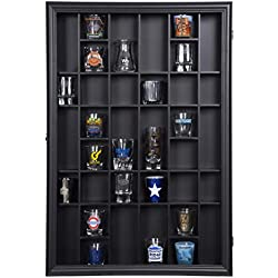 Gallery Solutions 17x21 Display Hinged Front, Black Shot Glass Case OD 17.8875X21.3125