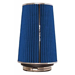 Spectre Performance 9736 Universal Clamp-On Air Filter: Round Tapered; 3 in/3.5 in/4 in (102 mm/89 mm/76 mm) Flange ID; 8.75 in (222 mm) Height; 6 in (152 mm) Base; 4.75 in (121 mm) Top