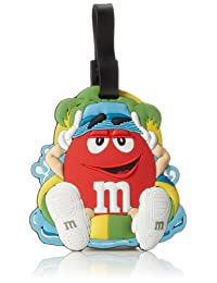 M & M Jumbo Luggage Tag, Red, One Size