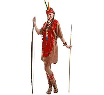 Disfraz para mujer de India marrón: Amazon.es: Juguetes y juegos