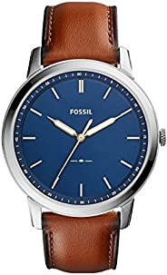 Reloj Fossil The Minimalist 3H para Hombres 44mm, pulsera de Piel de Becerro