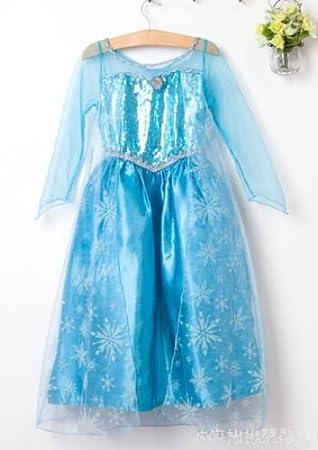Disfraz Elsa Frozen Disney Anna costume Princesa (5-6 años ...