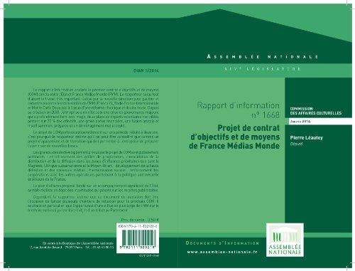 Amazon Com Rapport D Information Sur Le Projet De Contrat D