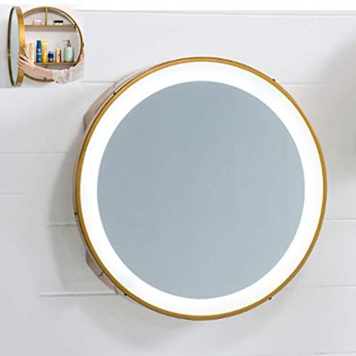 BGJZ Bathroom with Light Mirror Wall Mirror Round Gold with Lockers LED - Saving Space 20 Mirrors 16 Bathroom X