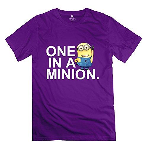 Men's One In A Minion T-shirt XL Purple