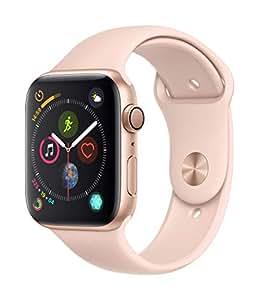 AppleWatch Series4 (GPS) con caja de 44mm de aluminio en oro y correa deportiva rosa arena