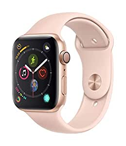 Apple Watch Series 4-44mm Gold Aluminum Case with Pink Sand Sport Band, GPS, watchOS 5