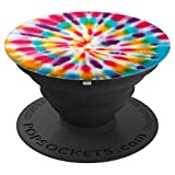 Cool Tie Dye Rainbow Swirl Design Colorful Pattern - PopSockets Grip and Stand for Phones and Tablets