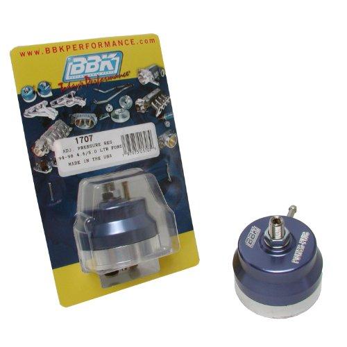 BBK 1707 Fuel Pressure Regulator - Fully Adjustable - CNC Machined Billet Aluminum - Direct Fit for Ford Mustang 5.0 And 302/351 EFI - 302 Fuel Ford Injection
