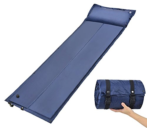 Aliglow Self Inflating Sleeping Pad Mat with Attached Pillow