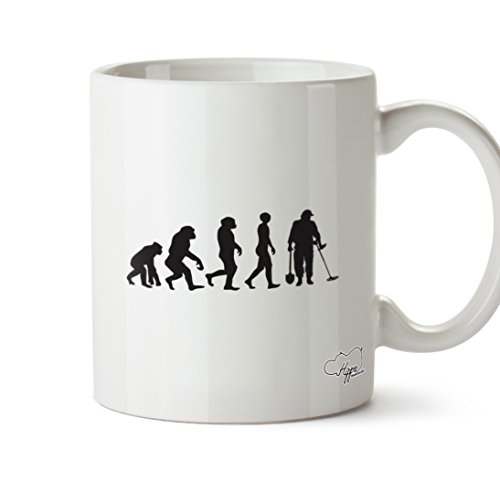HippoWarehouse Metal Detectorist Evolution 10oz Mug Cup