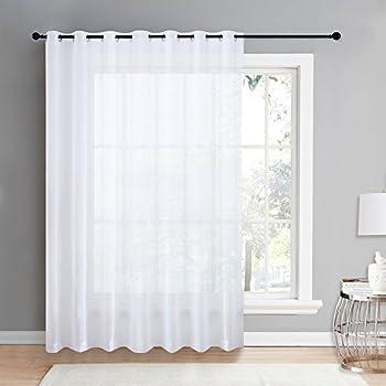 Amazoncom HLCME One Panel Extra Wide Semi Sheer Voile Patio Door