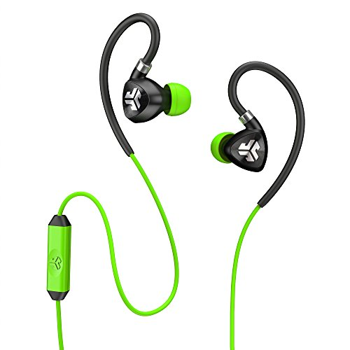 JLab Audio Fit2 Sport Earbuds, Sweatproof, Water Resistant with In-Wire Customizable Earhooks, Guaranteed Fit, GUARANTEED FOR LIFE - - Stores Sports In Dallas