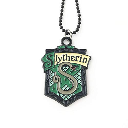 Harry Potter Slytherin Pendant Necklace Theme Cosplay Jewelry Gift Series -