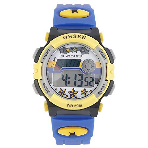 Boys Girls Kids Rubber LED Light Digital Stopwatch Quartz Sports Wrist ()