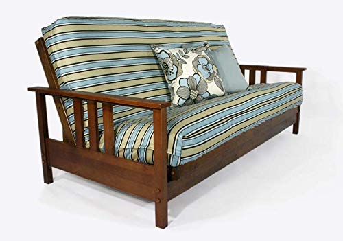 Strata Furniture Durango Warm Cherry Full Wall Hugger Futon Frame (KD)