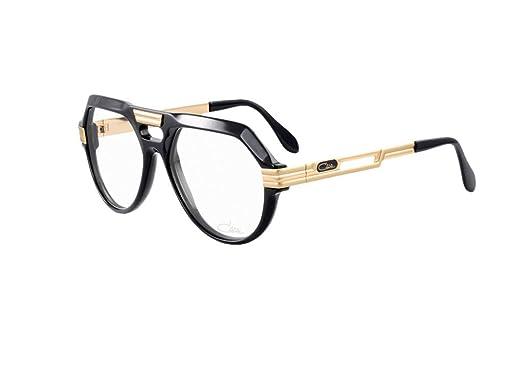Amazon.com: Cazal anteojos Caz 657 001 negro oro Acentos ...