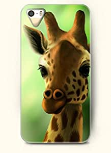 OOFIT Phone Case design with Cute Giraffe for Apple iPhone 4 4s 4g