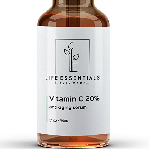 Vitamin C Serum for Face 20% - Hyaluronic Acid - Anti Wrinkle - Anti Aging Serum - Fades Dark Spots - Repairs Skin - Organic - Face My On Test Glasses