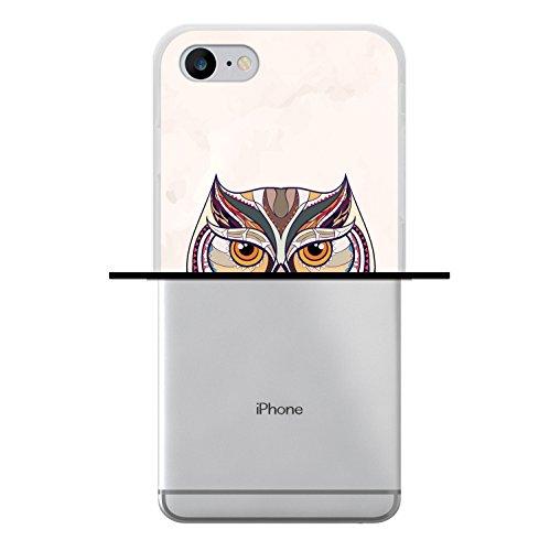 iPhone 8 Hülle, WoowCase Handyhülle Silikon für [ iPhone 8 ] Ethnische Eule Handytasche Handy Cover Case Schutzhülle Flexible TPU - Transparent