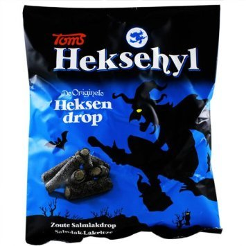 Heksehyl Drop Licorice Salty Logs 10.5 Oz (Pack of 6)