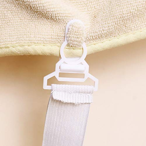 4pcs Bed Sheet Fasteners Mattress Strong Clip Grippers Elastic Holder (ONE, White) by SUNSEE WOMEN'S CLOTHES PROMOTION (Image #3)
