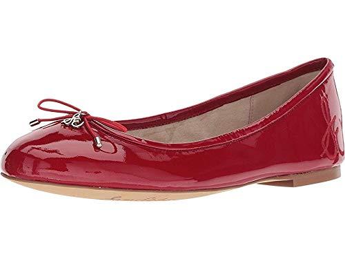 Sam Edelman Women's Felicia True Red Soft Cow Patent Leather 10 W US W