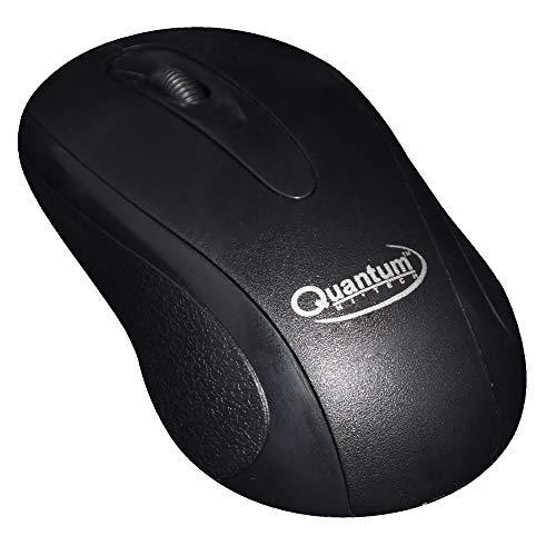 Quantum QHM232 3 Button 1000DPI Wired Optical Mouse  Black