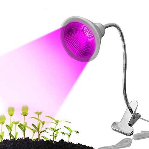 Waklyte Plant Growing Lamp – 12W | 30 LED Bulbs | 700 Lumens | IP65 Waterproof | 360° Flexible Gooseneck UV Plant Grow Light for Indoor Plants, Greenhouse, Office, Potted, Garden, Greenhouse