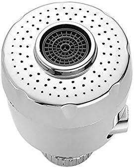 KUQIQI 360度スイベルタップ蛇口バスルームキッチンツールのための抗スプラッシュ水フィルターアダプターシャワーヘッドバブラーセーバーの蛇口 (色 : As the picture shows)