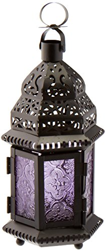 Gallery of Light 10016122 Purple Moroccan Style Lantern, Multicolor]()